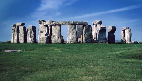 El famoso y misterioso Stonehenge, al norte de Salisbury, Inglaterra